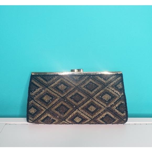 Vintage Handbags - Vintage Beaded Clutch